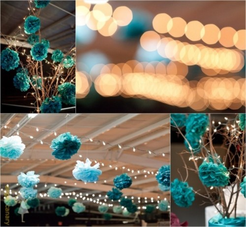 pompon decoration bapteme